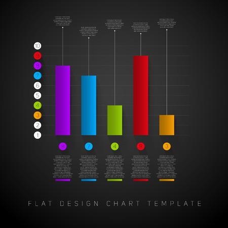 d data: Business flat design graph. Infographics chart illustration. vector