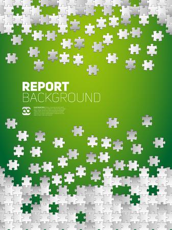 piezas de rompecabezas: Vector Resumen de antecedentes para el Informe, a partir de piezas de un rompecabezas y lugar para el contenido Vectores