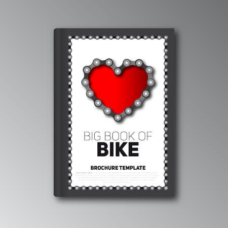 bike cover: Big book of bike, Brochure template, magazine Illustration