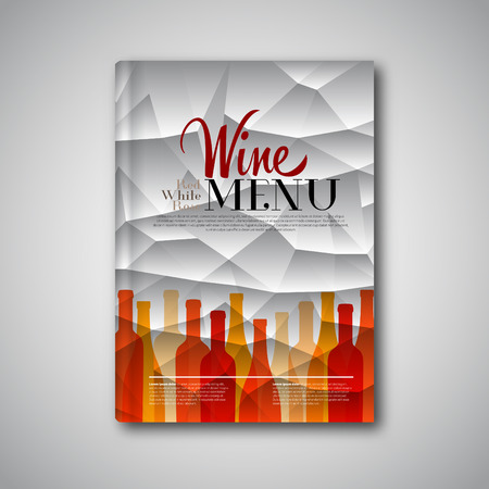 food store: Simple Wine menu on triangle background, abstract brochure, book, flyer design template Illustration