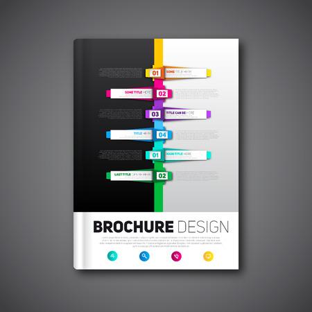 Modern Brochure design abstract brochure, report template