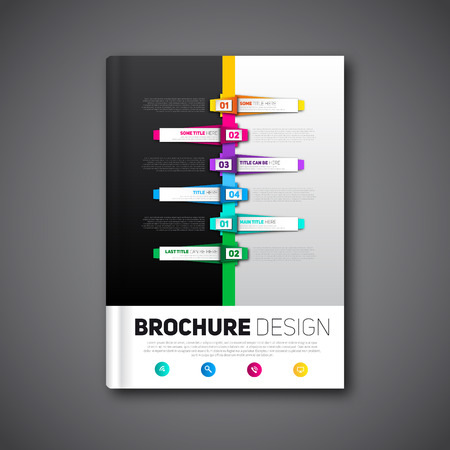 Modern Brochure design abstract brochure, report template 免版税图像 - 39137701