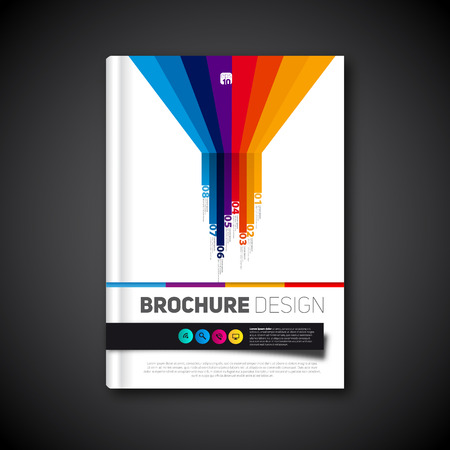 Modern infographics abstract brochure, report for business or flyer design template