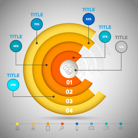 circle business concepts with icons, can use for infographic, business report or plan, education template, business brochure Vector