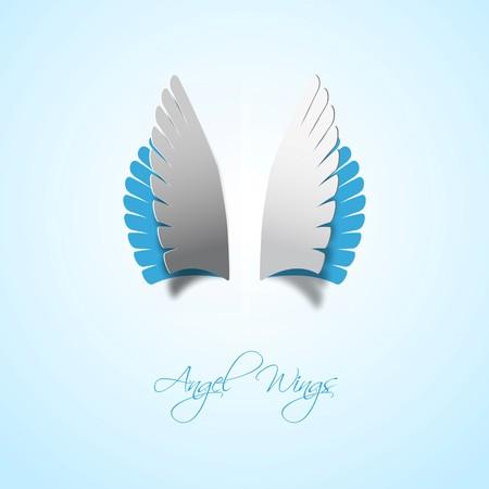 alas de angel: Alas de �ngel estilo Papercut Vectores