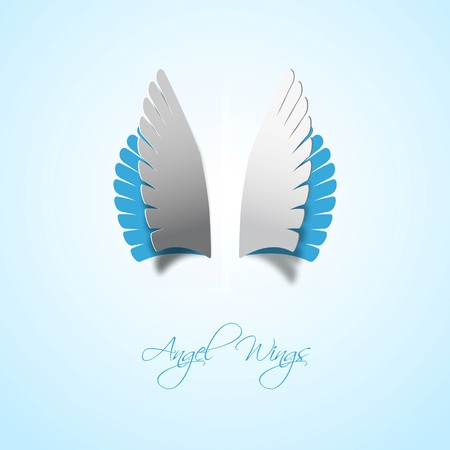 wings angel: Papercut style Angel wings