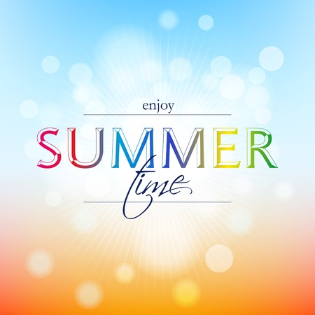 Summer time holidays illustration & summer background