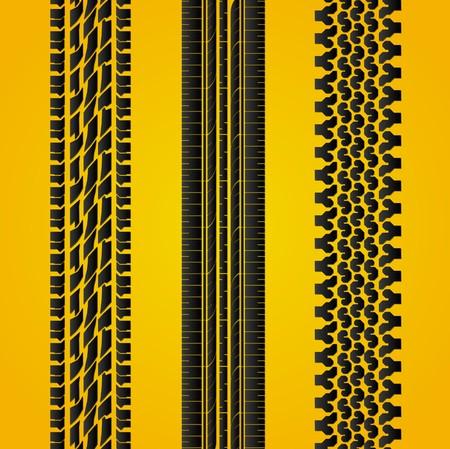 splint: Set of Tires track Illustration