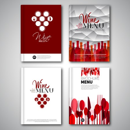 Set of flyer menu cover or Food Brochure design