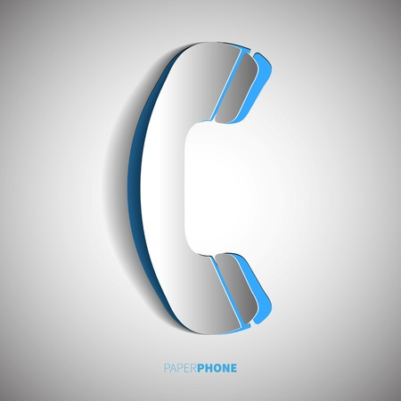 phone receiver: Phone receiver in papercut style