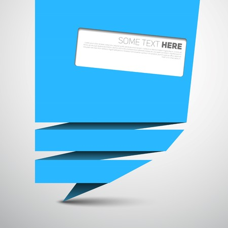 origami banner: Origami paper speech bubble or web banner
