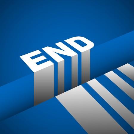 end: End Gap, symbol of endless illustration Illustration