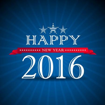 2016, Original Happy New Year Illustration - vector Illustration