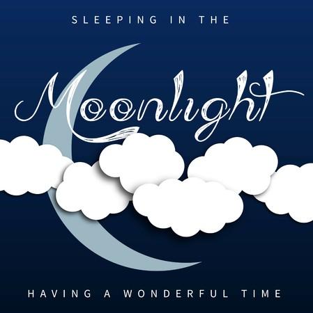 Moon, clouds, moonlight, Sweet dreams wallpaper