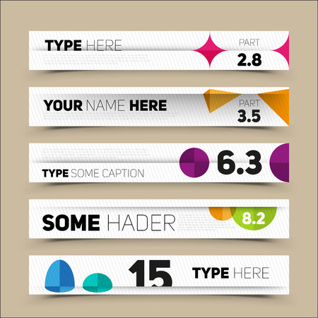 numbers abstract: Modern infographics options banner. For workflow layout, number options, web design. Vector illustration