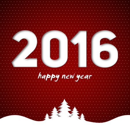 paper: Merry Christmas, Happy new year, 2016, Vector Illustration Illustration