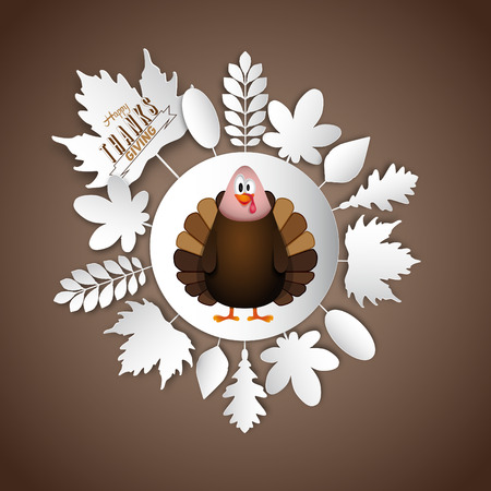 Thanksgiving turkey, vector illustration