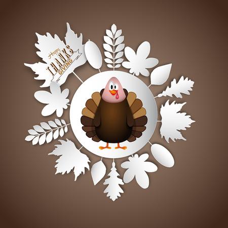 Thanksgiving turkey, vector illustration