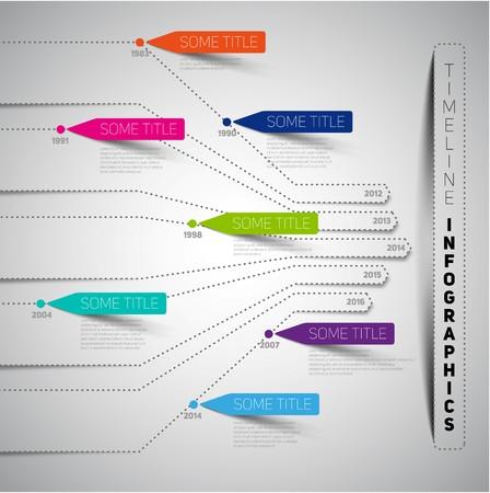 timeline: Minimal infographic timeline design Illustration