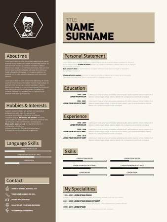 Minimalist CV, resume template with simple design