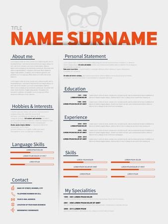 minimalist: Minimalist CV, resume template with simple design