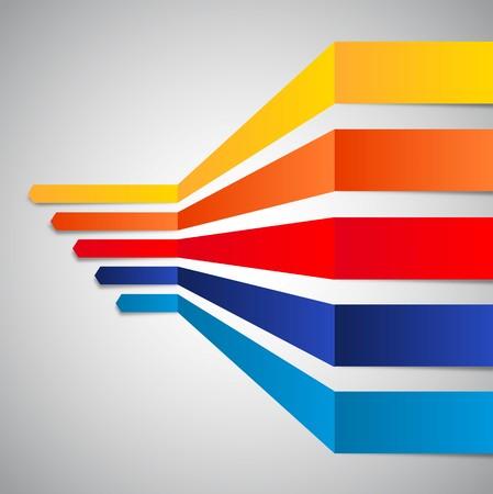 lineas horizontales: líneas horizontales en perspectiva Vectores