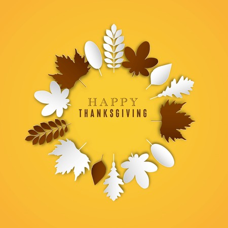 indian family: Happy Thanksgiving Day background, Collage of beautiful autumn leaves, can be use as flyer, poster or banner