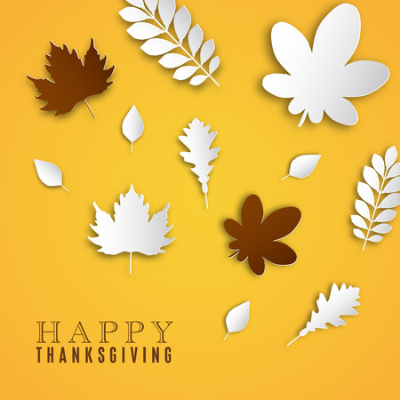 indian happy family: Happy Thanksgiving Day background, Collage of beautiful autumn leaves, can be use as brochure or poster