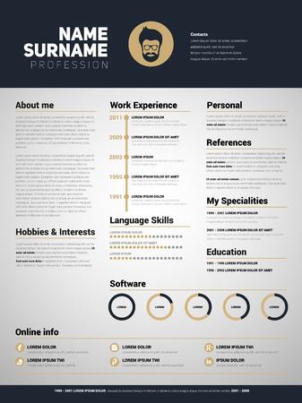 Minimalistische CV, CV-sjabloon met een eenvoudig ontwerp