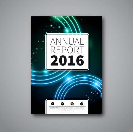 annual report: Modern abstract brochure or flyer design template with defocused circles
