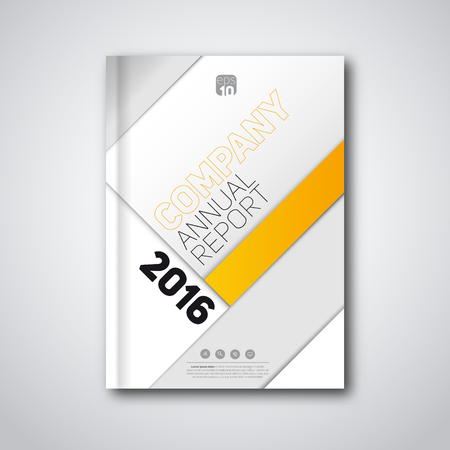 annual: Modern material design corporate layout, Flyer, brochure, poster, annual report, magazine cover vector template.