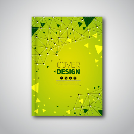 official: Modern brochure, polygonal construction, Vector abstract cover Illustration