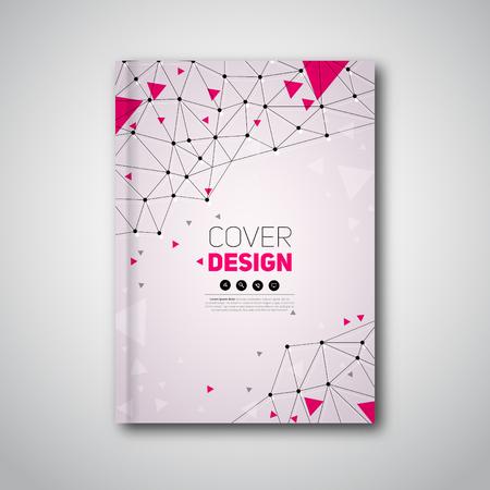 portadas libros: folleto moderna, la construcción poligonal, cubierta abstracta del vector Vectores