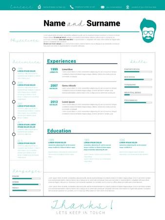 sample: Minimalist CV, resume template with simple design, vector CV resume, business elegant CV, curriculum vitae, personal promo resume, skill profile