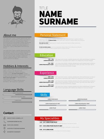 Resume Minimalist Cv Template With Simple Design Company Application Cv Curriculum Vitae Resume Business Sheet Clean Employer Resume