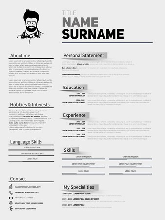 Resume Minimalist CV, Resume Template With Simple Design, Company  Application CV, Curriculum Vitae  Curriculum Vitae Resume Samples