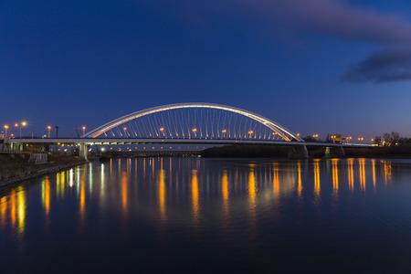 Apollo bridge in Bratislava, Slovakia