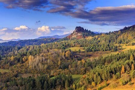 Pieniny landscape in autumn, slovakia 免版税图像
