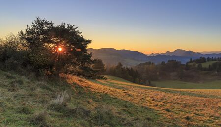 Pieniny landscape, autumn, slovakia