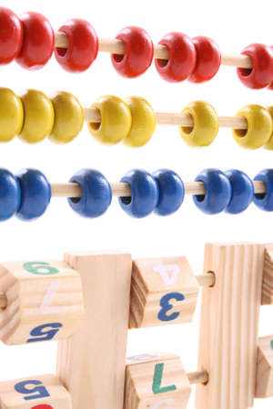 close-ups of colorful abacus isolated on white Stock Photo - 898431
