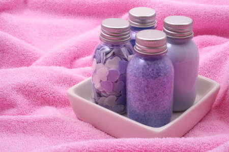 bath accessories on towel - body care Stock Photo - 898442