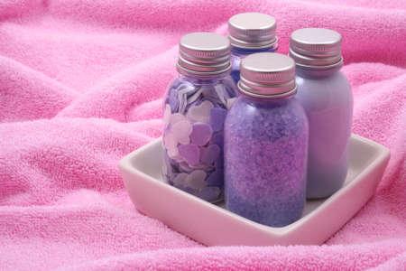 bath accessories on towel - body care Stock Photo - 898442