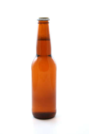 one bottle of beer isolated on white Stock Photo