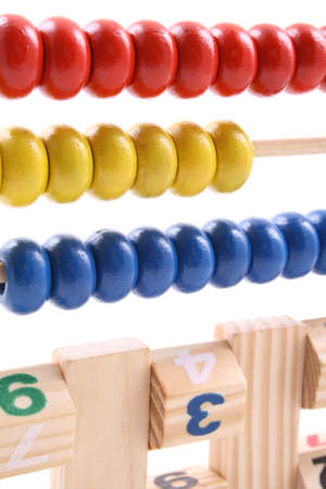 close-ups of colorful abacus isolated on white Stock Photo - 961801