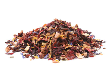 pile of fruity tea isolated on white Stock Photo - 1364689