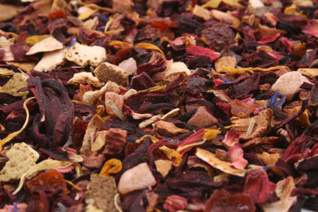 closeups: close-ups of fruity tea - background