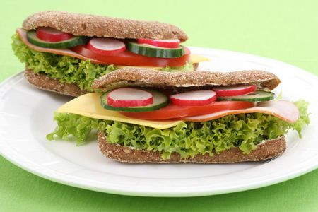 close-ups of two delicious sandwiches Stock Photo - 3108415