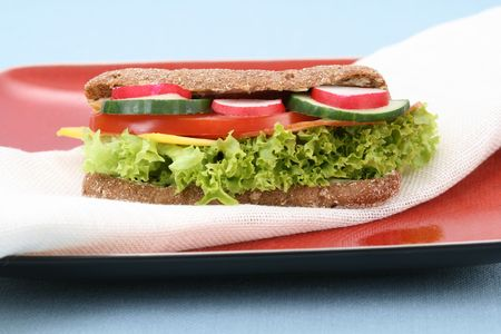close-ups of fresh and delicious sandwich Stock Photo - 3108419