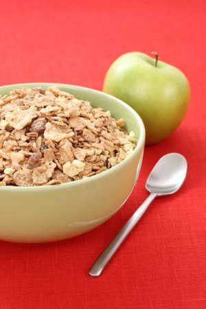 musli: bowl full of musli - healthy breakfast