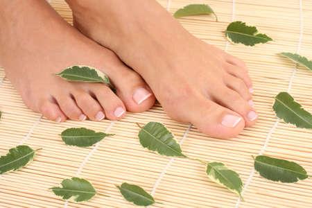 footcare: close-ups of beautiful female legs Stock Photo